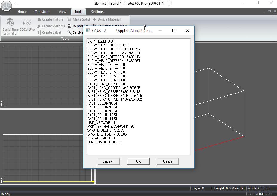 Projet x60 Series - Edit .ini File